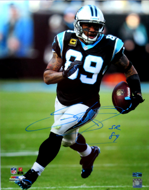 Steve Smith Sr Signed Carolina Panthers 16x20 NFL Photo - Running-0