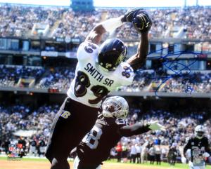 Steve Smith Sr Signed Baltimore Ravens 16x20 NFL Photo - vs Raiders-0