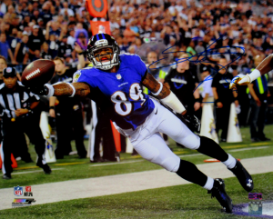 Steve Smith Sr Signed Baltimore Ravens 16x20 NFL Photo - Stretch-0