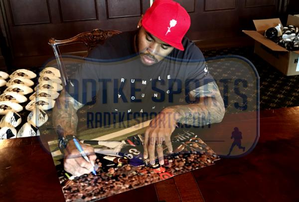 Steve Smith Sr Signed Baltimore Ravens 16x20 NFL Photo - Stretch-10306