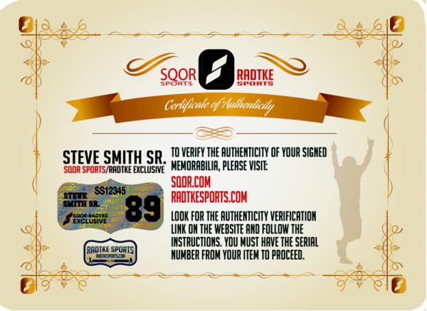 Steve Smith Sr Signed Baltimore Ravens 16x20 NFL Photo - Stretch-10308