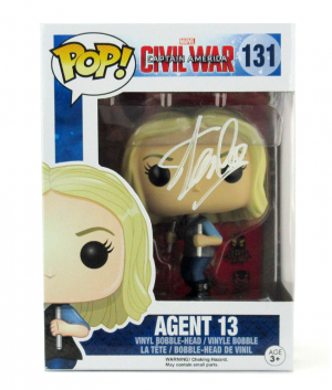 Stan Lee Signed Funko Pop! Marvel Civil War Agent 13 Toy-0