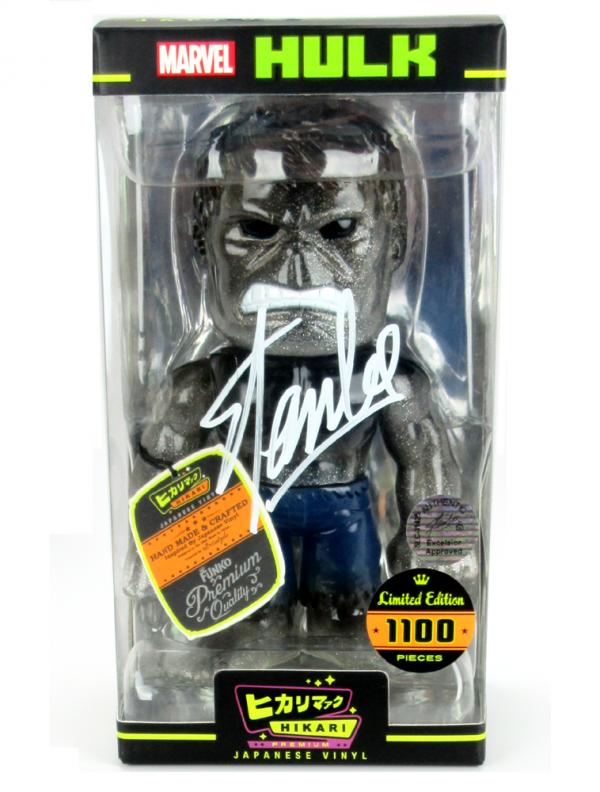 Stan Lee Signed Hikari Marvel Glitter Hulk Japanese Vinyl Figure LE 1100-5442