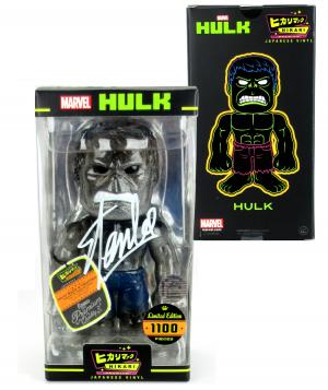 Stan Lee Signed Hikari Marvel Glitter Hulk Japanese Vinyl Figure LE 1100-0