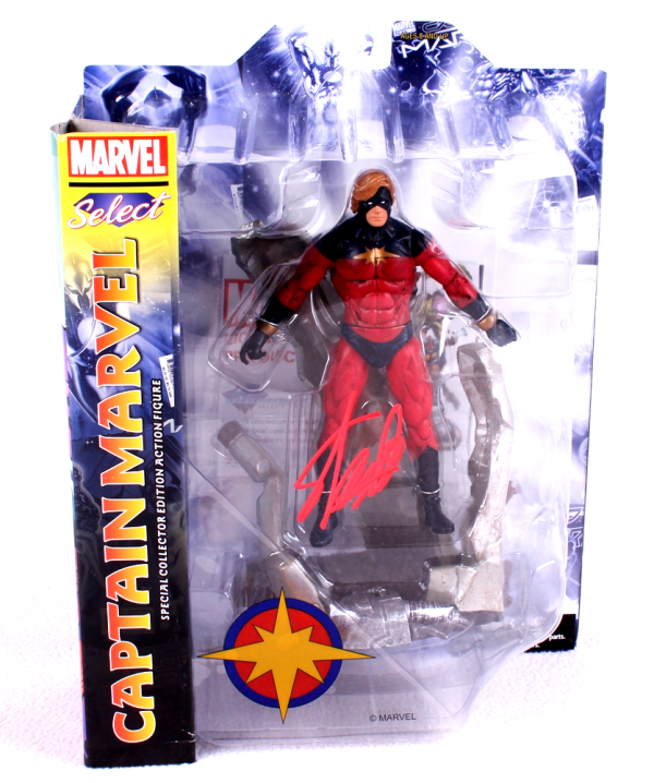 Stan Lee Signed Marvel Select Captain Marvel In-Box Action Figure-0