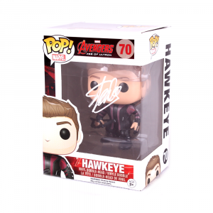 Stan Lee Signed Funko Pop! Marvel Avengers Age of Ultron Haweye #70 In-Box Action Figure-0