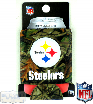Pittsburgh Steelers Officially Licensed 12oz Neoprene Can Huggie - Camo-0