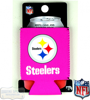 Pittsburgh Steelers Officially Licensed 12oz Neoprene Can Huggie - Pink-0