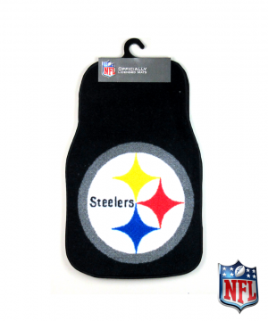 Pittsburgh Steelers Officially Licensed 17x27 Carpet NFL Car Mats Set-0