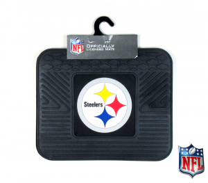 Pittsburgh Steelers Officially Licensed Heavy Duty Vinyl 14x17 NFL Rear Car Mats Set-0