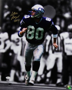 "Steve Largent Signed Seattle Seahawks 16x20 Photo With ""HOF 95"" Inscription - Spotlight-0"