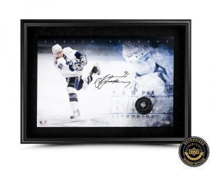 "Steven Stamkos Signed ""Breaking Through"" 16x24 Photo-0"
