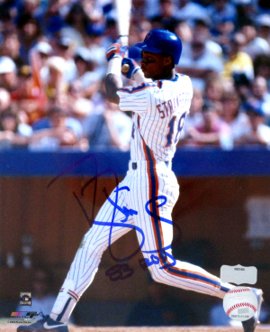 "Darryl Strawberry Signed New York Mets 8x10 MLB Photo with ""83 ROY"" Inscription-0"