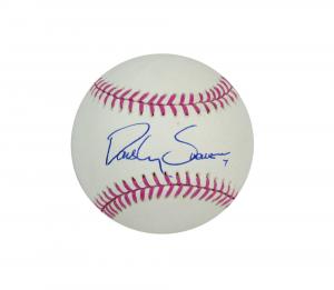 Dansby Swanson Signed Atlanta Braves Rawlings Baseball - Breast Cancer Awareness-0