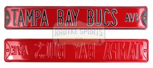 Tampa Bay Buccaneers Avenue Officially Licensed Authentic Steel 36x6 Red & Black NFL Street Sign-0
