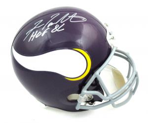 """Fran Tarkenton Signed Minnesota Vikings Riddell Throwback Full Size NFL Helmet with """"HOF 86"""" Inscription-0"""