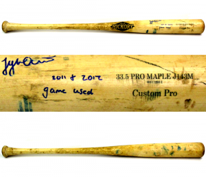 "Tyler Austin Signed Game Used Old Hickory Custom Bat with ""2011 + 2012 Game Used"" Inscription - New York Yankees-0"
