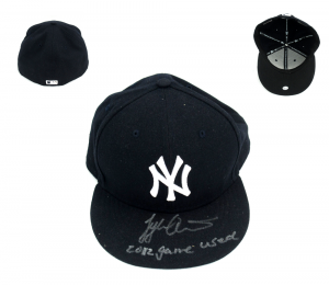 "Tyler Austin Signed Game Used New York Yankees Minor League Hat with ""2012 Game Used"" Inscription-0"