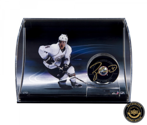 Taylor Hall Signed NHL Hockey Puck with Curved Display-0