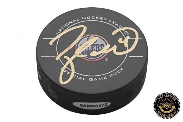 Taylor Hall Signed NHL Hockey Puck - Edmonton Oilers-0