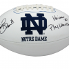 """Tim Brown Signed Notre Dame Fighting Irish Embroidered NCAA Logo Football with """"Heisman 87 - Play Like A Champion"""" Inscription-0"""