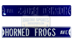 TCU Horned Frogs Avenue Officially Licensed Authentic Steel 36x6 Purple & White NCAA Street Sign-0