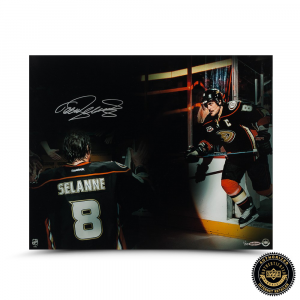 "Teema Selanne Signed ""Final Home Game"" 16x20 Photo - LE-0"