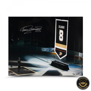 "Teema Selanne Signed ""Salute"" 16x20 Photo - LE-0"