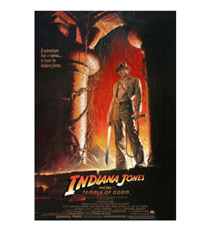 PRE-ORDER: Harrison Ford Signed Indiana Jones And The Temple Of Doom 27x40 Movie Poster - Option #1-26752