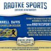 "Terrell Davis Signed Denver Broncos Riddell Throwback NFL Mini Orange Helmet With ""HOF 17"" Inscription-28626"