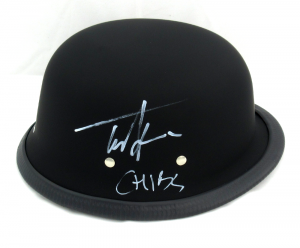 "Tommy Flanagan Signed Daytona Matte Black Authentic Biker Helmet With ""Chibs"" Inscription-0"