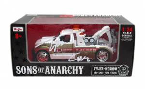 """Tommy Flanagan Signed Sons of Anarchy Teller Morrow Auto Service Tow Truck with """"Chibs"""" Inscription-0"""