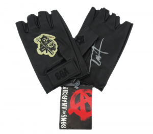 Tommy Flanagan Signed Sons Of Anarchy Fully Licensed Fingerless Black Crew Gloves-0