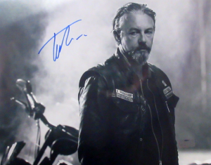 Tommy Flanagan Signed Sons Of Anarchy 11x14 Photo - B&W with Bike-0