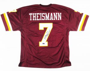 "Joe Theismann Signed Washington Redskins NFL Custom Jersey with ""SB XVII Champs""-0"