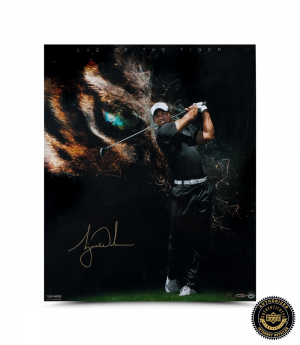 Tiger Woods Signed 20x24 Photo - Eye of the Tiger-0