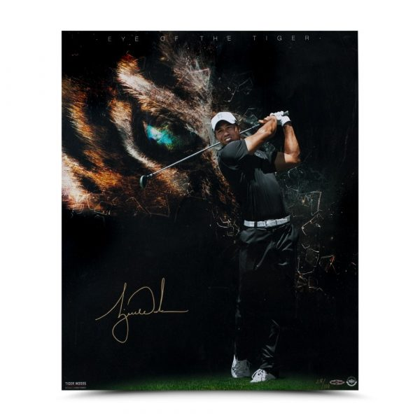 Tiger Woods Signed 20x24 Photo - Eye of the Tiger-13605