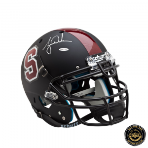 Tiger Woods Signed Stanford Cardinals Black Authentic Helmet-0