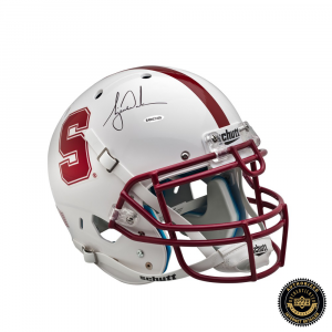 Tiger Woods Signed Stanford Cardinals White Authentic Helmet-0