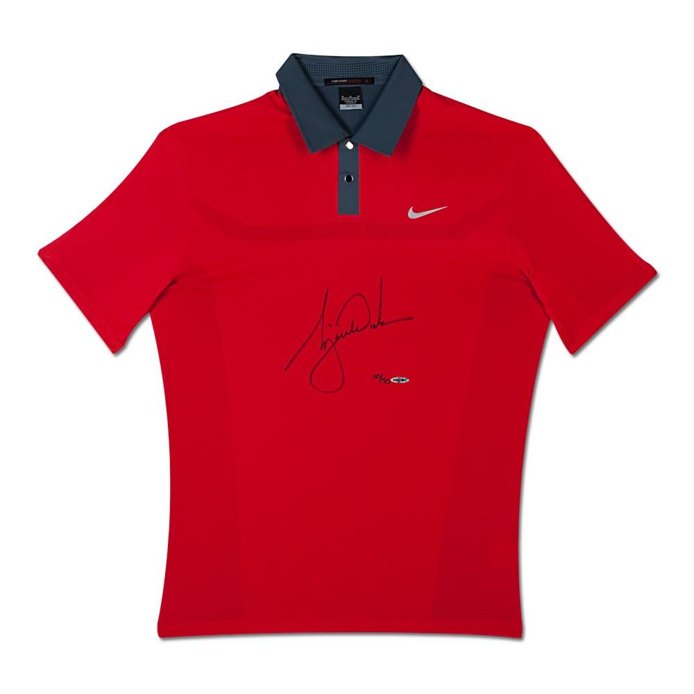 8e0288e5 Tiger Woods Signed 2013 Nike TW Engineered Red Polo Shirt – Radtke ...