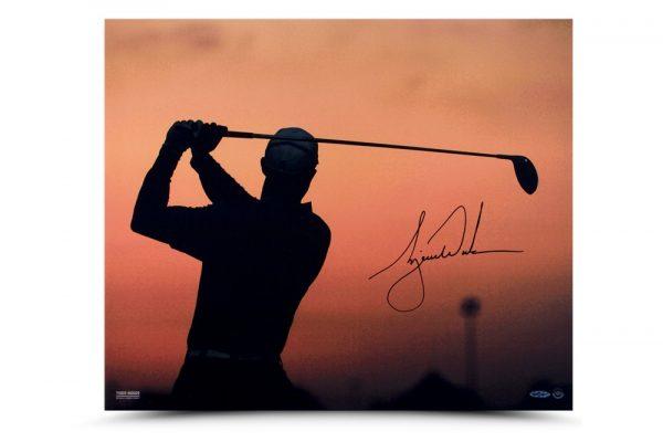 Tiger Woods Signed Sunrise 20x24 Photo-13636