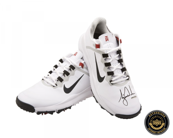 Tiger Woods Signed Nike Golf Shoes - White-0