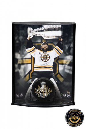Tim Thomas Signed NHL Hockey Puck & 8x10 Photo Curved Display - LE-0