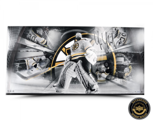 Tim Thomas Signed Playoff Run Panoramic Collage - LE-0