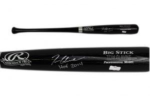 "Tom Glavine Signed Atlanta Braves Official Rawlings MLB Big Stick Engraved Black Bat With ""HOF 2014"" Inscription-0"