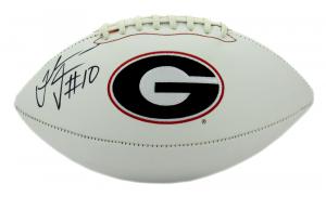 Thomas Davis Signed Georgia Bulldogs Embroidered NCAA Logo Football-11893