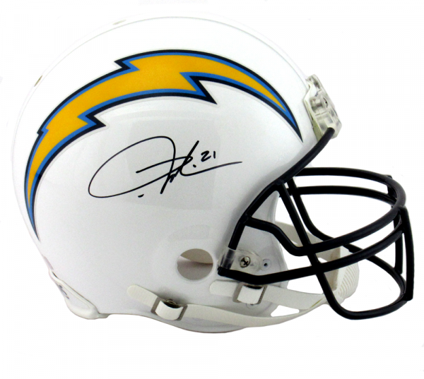 LaDainian Tomlinson Autographed/Signed San Diego Chargers Riddell Authentic NFL Helmet-0