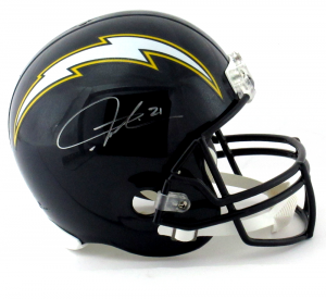 LaDainian Tomlinson Signed San Diego Chargers Blue Riddell Full Size NFL Helmet-0