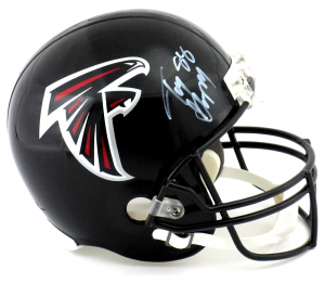Tony Gonzalez Signed Atlanta Falcons Riddell Full Size NFL Helmet-0