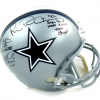 Troy Aikman, Emmitt Smith & Michael Irvin Autographed/Signed Dallas Cowboys Riddell Full Size NFL Helmet with Super Bowl Inscriptions-13280